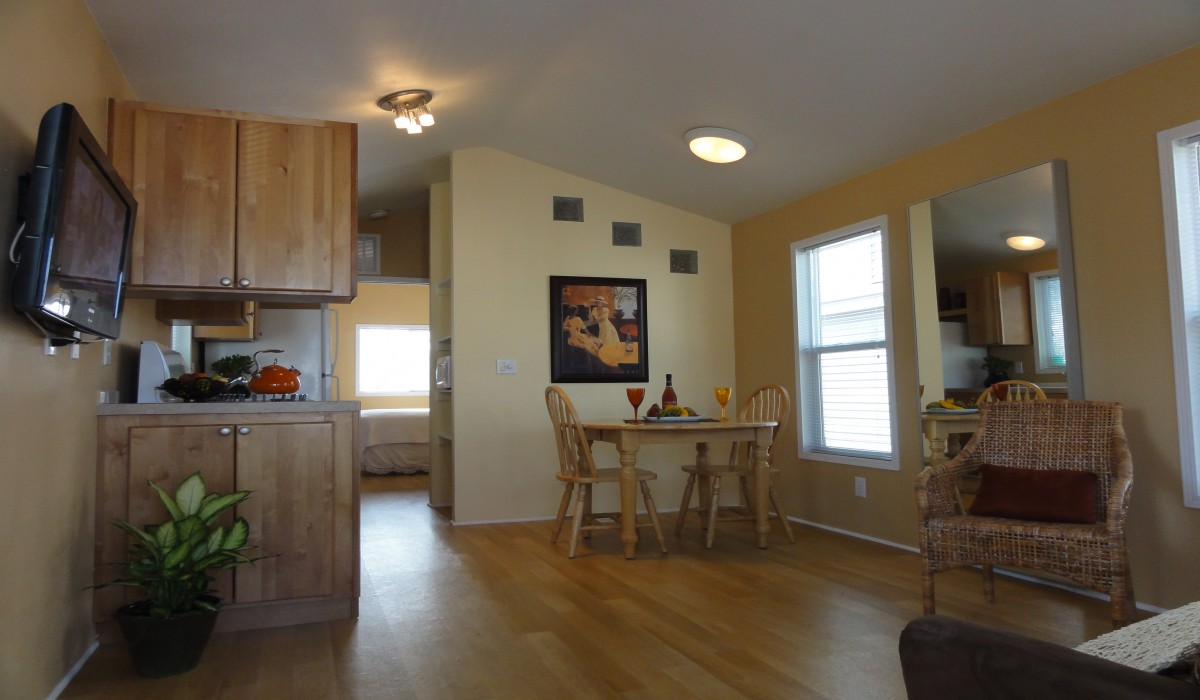 Arden Acres - Living spaces with dining areas and kitchens